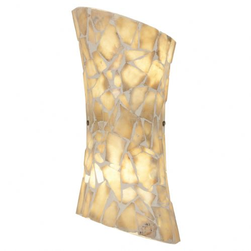 2 Light Wall Bracket In Natural Stone MARCONI-2WBNA